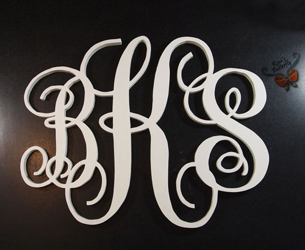 Personalized Three Initial Monogram  for Wedding Decoration, home decor, wedding