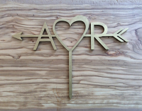 A♥R Custom Cake Topper for Wedding, Birth day, Anniversary
