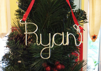 wire name ornament
