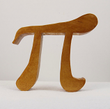Free standing wooden Math Symbol (Pi )