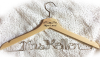 Mrs.Keller hanger,wedding hanger,Personalized Hanger,Custom hanger,wire name hanger,Bridesmaids hanger,bride hanger