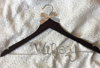 Wifey hanger,wedding hanger,Personalized Hanger,Custom hanger,wire name hanger,Bridesmaids hanger,bride hanger