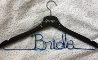 Bride Jennifer hanger,wedding hanger,Personalized Hanger,Custom hanger,wire name hanger,Bridesmaids hanger,bride hanger