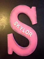 "Single Monogram ""S"" for Personalized name ' Skylor ' with Gothic Font  for nursery room decor. kids room decor. baby shower gift item"