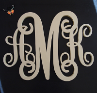 Personalized Three Initial Monogram 'AMK' for Wedding decoration, family, nursery room, home decor,
