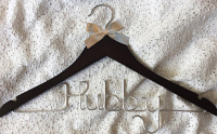 Groom hanger,Hubby hanger,wedding hanger,Personalized Hanger,Custom hanger,wire name hanger,Bridesmaids hanger,bride hanger
