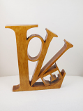 Love Free standing wooden letter sign