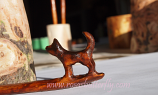 hand carved puppy hair stick