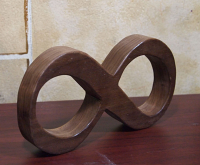 Free standing wooden Math Symbol Infinity
