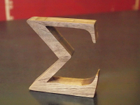 Free standing wooden Math Symbol Sigma