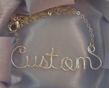 Custom order wire name necklace