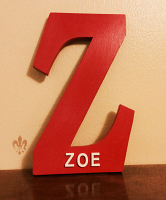 "Single Monogram ""Z"" for Zoe. Personalized name with Gothic Font  for nursery room decor. kids room decor. baby shower gift item"